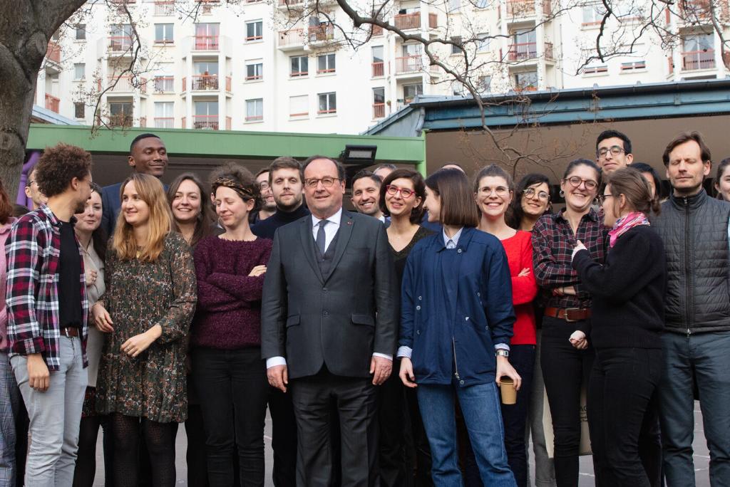 François Hollande rencontre les enseignants accompagnés par Le Choix de l'école