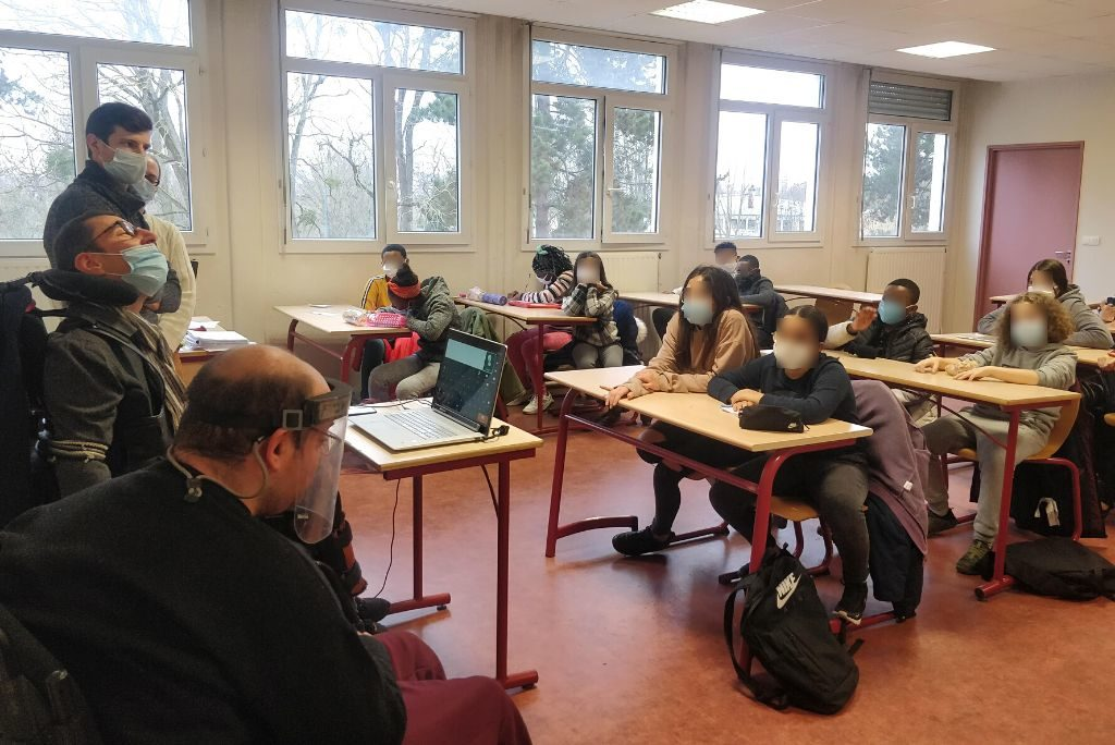 Intervention de l'association Rage d'exister dans une classe de 6 ème