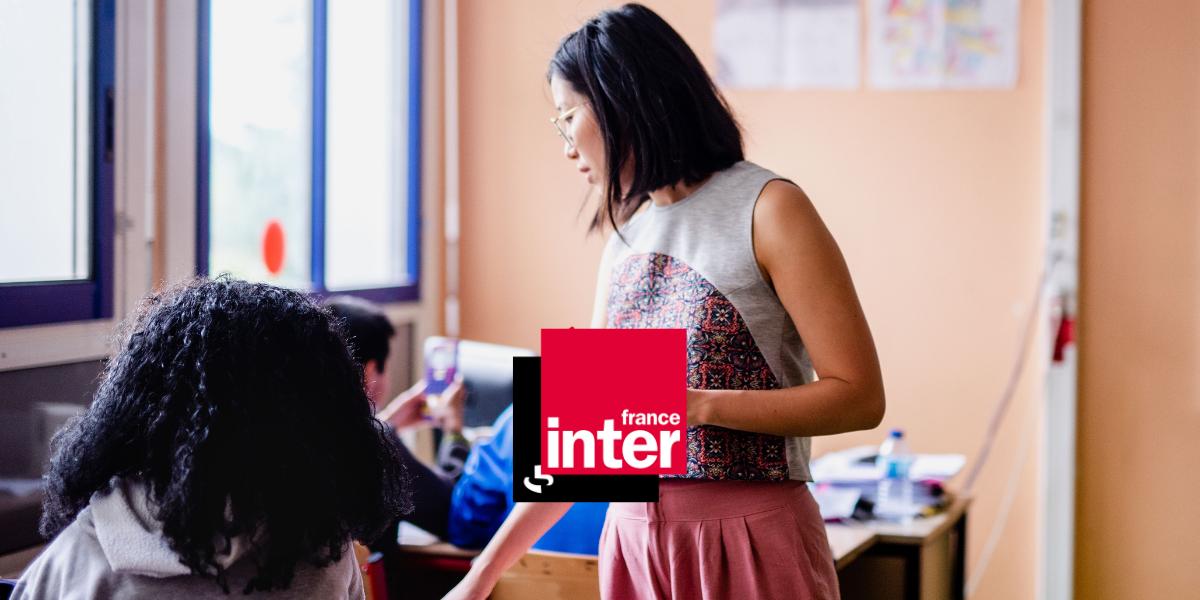 Aude au micro de France Inter pour présenter Le Choix de l'école