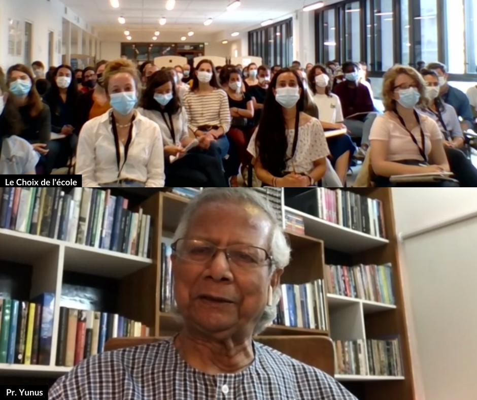 Le Professeur Muhammad Yunus, prix Nobel de la paix, est intervenu à l'université d'été Le Choix de l'école.